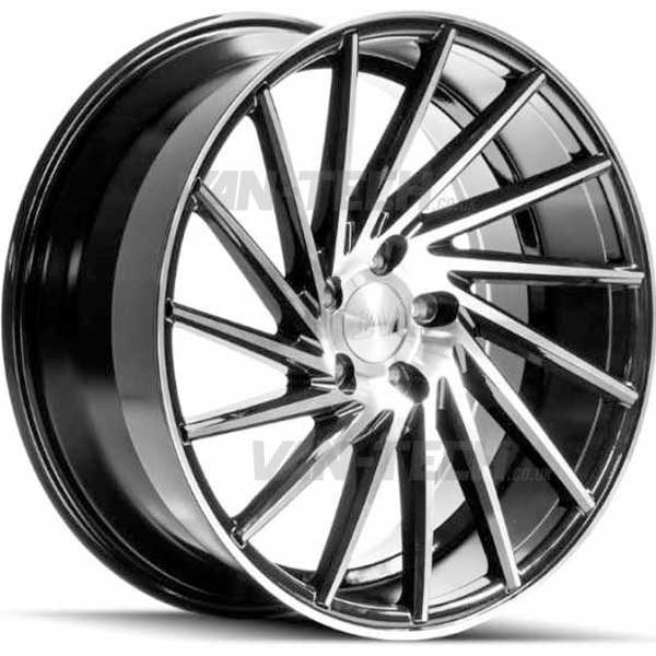 "VW T5 T5.1 T6 1AV ZX1 Alloy Wheels 18"" Black / Polished"