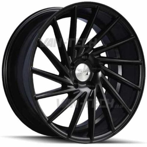 "VW T5 T5.1 T6 1AV ZX1 Alloy Wheels 18"" Satin Black"