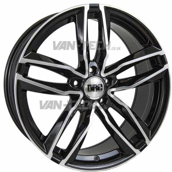 VW T5 T5.1 T6 DRC DAA 18″ Alloy Wheels Black Polished