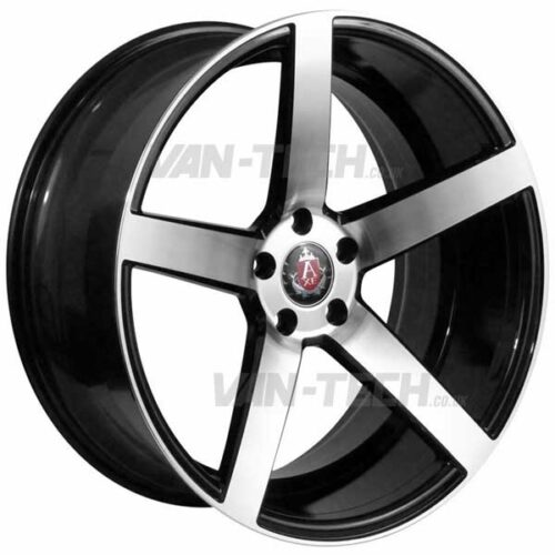 "VW T5 T5.1 T6 Axe EX-18 Alloy Wheels 18"" Black / Polished"