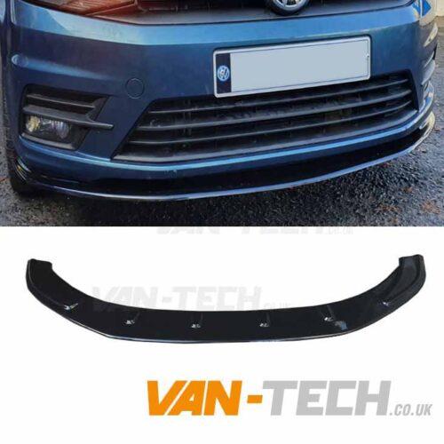 VW Caddy Front Bumper Spiltter Gloss Black 2015 - onwards