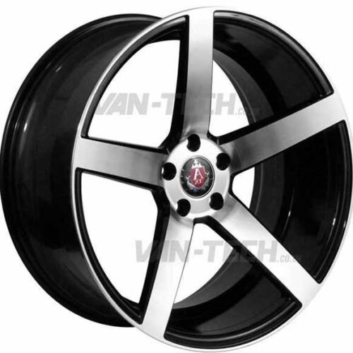 "VW T5 T5.1 T6 Axe EX-18 Alloy Wheels 20"" Black / Polished"