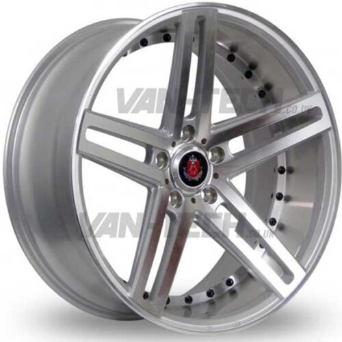 "VW T5 T5.1 T6 Axe EX-20 Alloy Wheels 20"" Silver / Polished"