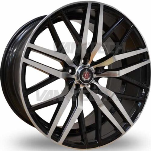"VW T5 T5.1 T6 Axe EX-30 Alloy Wheels 20"" Polished / Black"