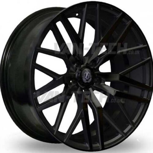 "VW T5 T5.1 T6 Axe EX-30 Alloy Wheels 20"" Gloss Black"