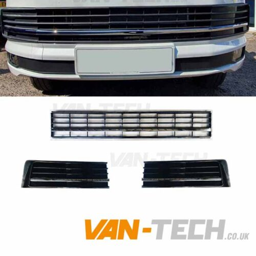 VW Transporter T6 Middle Bumper Inserts Chrome Trim
