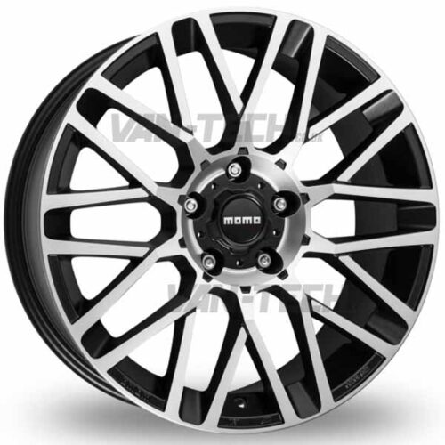 VW T5 T5.1 T6 Momo Revenge 18″ Alloy Wheels Polished / Black