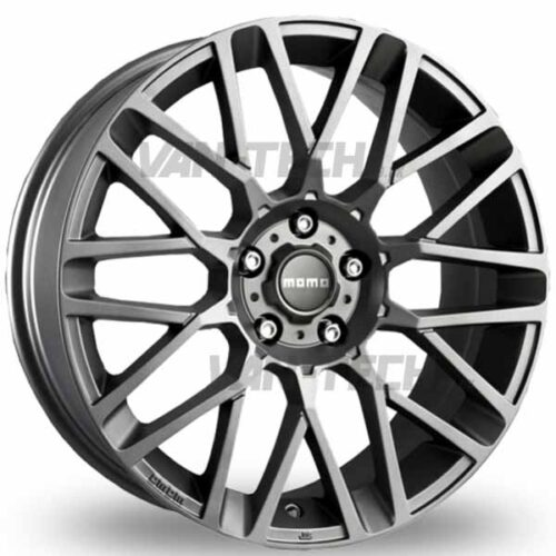 VW T5 T5.1 T6 Momo Revenge 18″ Alloy Wheels Matte Gun Metal