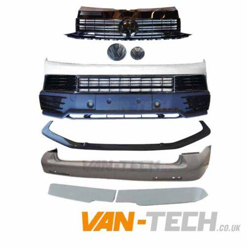 VW T6 Startline to Highline Conversion Kit Black Trim Barn Door