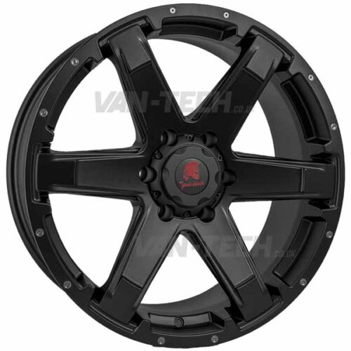 "VW T5 T5.1 T6 Tomahawk Chinook Alloy Wheels 20"" Matte Black"