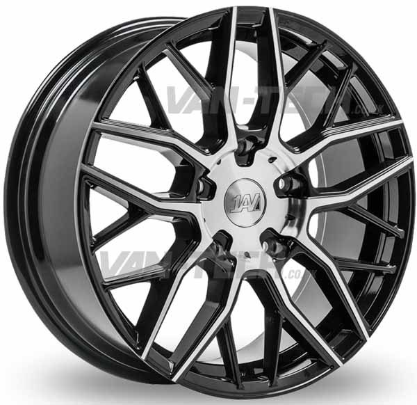 VW T5 T5.1 T6 1AV ZX11 Alloy Wheels 20″ Black / Polished
