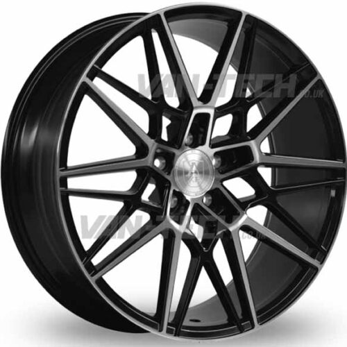 VW T5 T5.1 T6 Axe CF1 Alloy Wheels 20″ Black / Polished Forged
