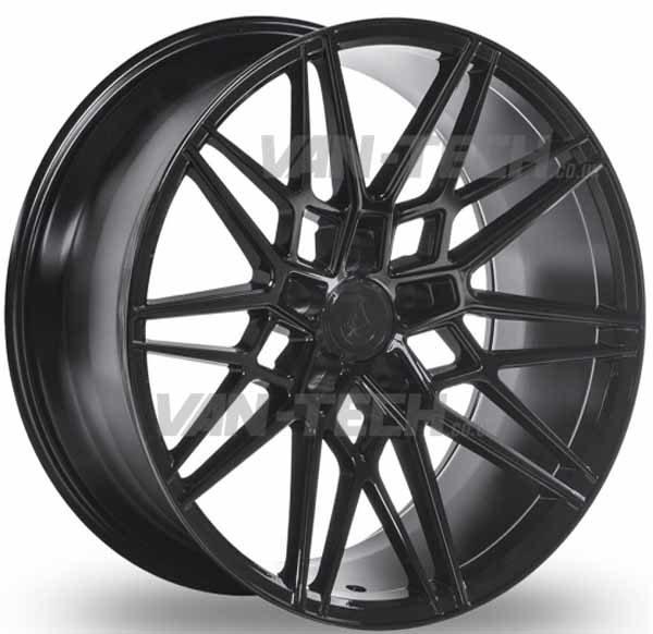 VW T5 T5.1 T6 Axe CF1 Alloy Wheels 20″ Gloss Black Forged