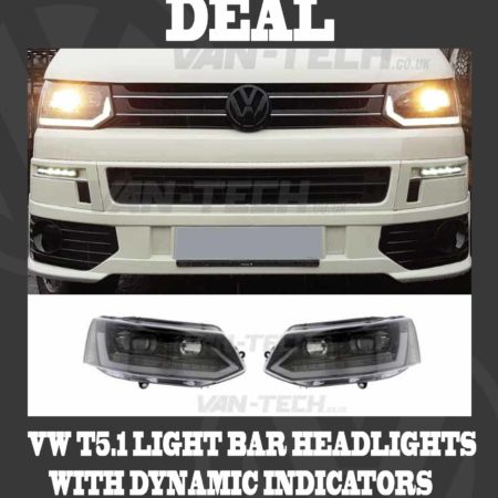 BLACK FRIDAY SALE VW T5.1 Light Bar Headlights