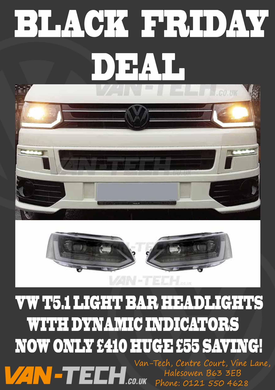 Black Friday Sale Vw T5 1 Light Bar Headlights
