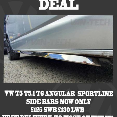 BLACK FRIDAY DEAL VW T5 T5.1 T6 Sportline Side Bars