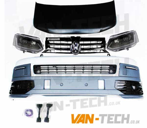 VW T5 to T5.1 Front End Conversion kit new style Lightbar Headlights