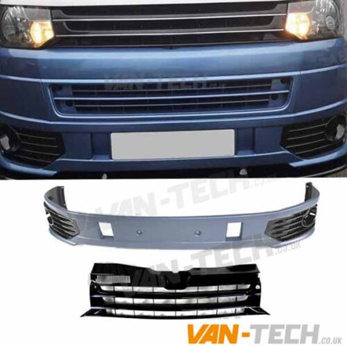 VW T5.1 Sportline Bumper and Badgeless Grille Upgrade Kit