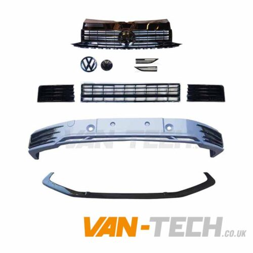 VW T6 Sportline Bumper Upgrade kit Black Trim