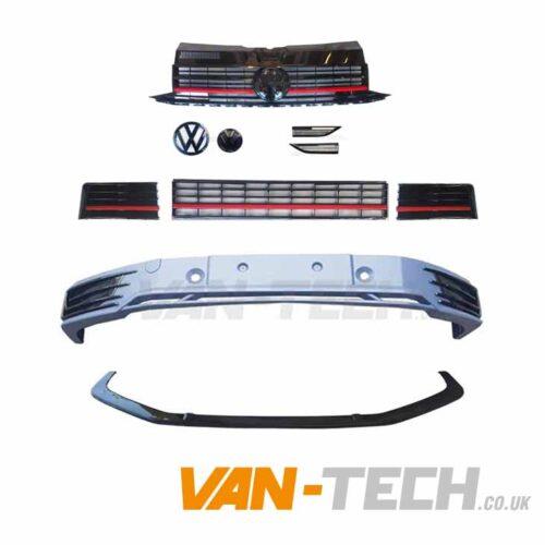 VW T6 Sportline Bumper Upgrade kit Red Trim