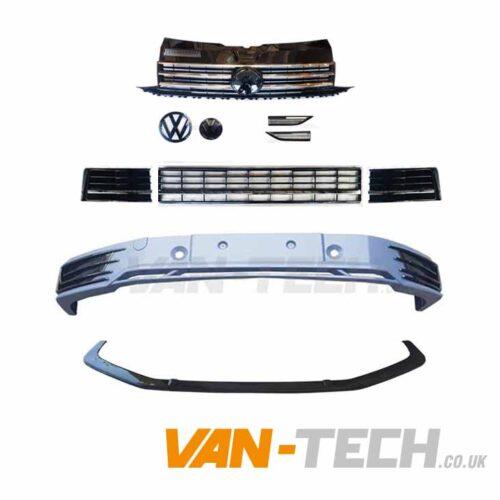 VW T6 Sportline Bumper Upgrade kit Chrome Trim