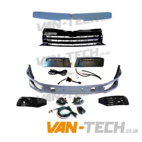 VW T5.1 Sportline Upgrade Kit Fog Lights, DRL's, Badgeless Grille and Spoiler
