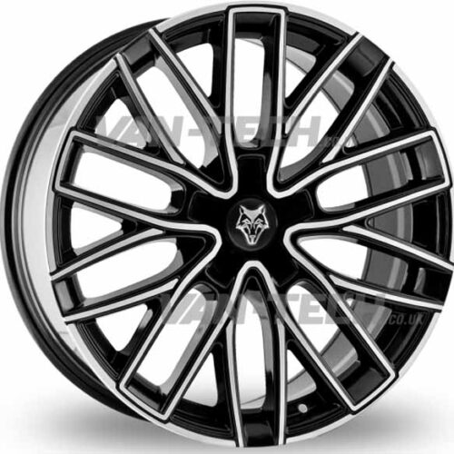 "VW T5 T5.1 T6 Wolfrace GTP 20"" Alloy Wheels Black / Polished"