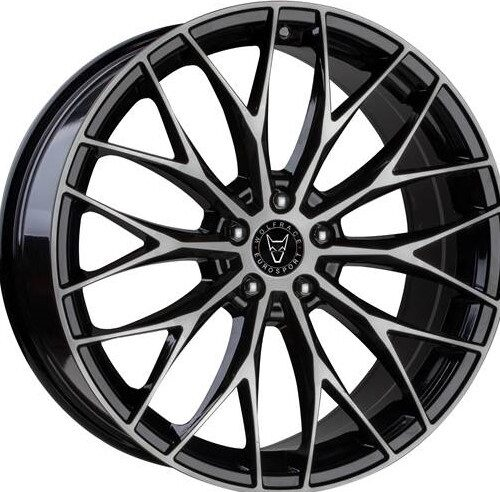 "VW T5 T5.1 T6 Wolfrace Wolfsburg 20"" Alloy Wheels Black / Polished"
