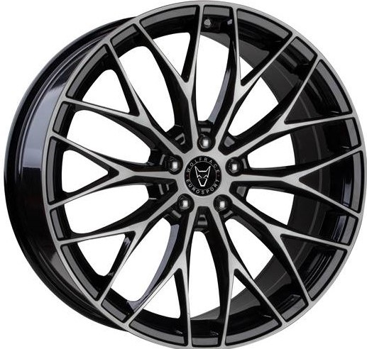 """VW T5 T5.1 T6 Wolfrace Wolfsburg 20"""" Alloy Wheels Black / Polished"""