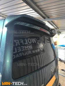 VW Transporter T6 Tailgate Spoiler supplied and fitted