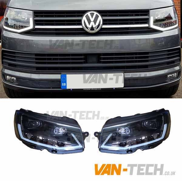 VW T6 LED DRL Light Bar Headlights Dynamic Indicators V6
