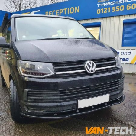 VW Transporter T6 Angular Black Side Bars, LED DRL Light Bar Headlights and more!