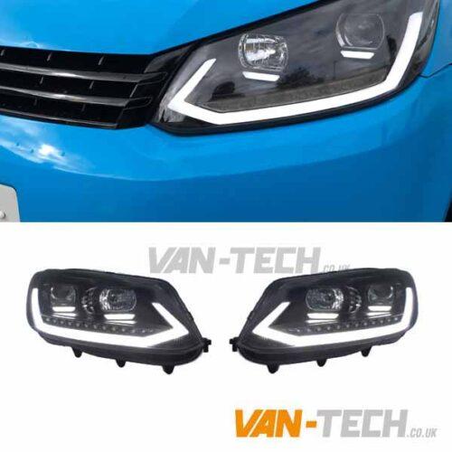 VW Caddy Light Bar Headlights LED DRL Dynamic Indicators