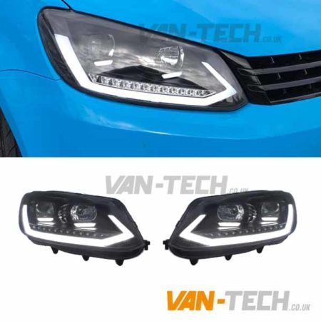 VW Caddy Light Bar Headlights LED DRL Dynamic Indicators