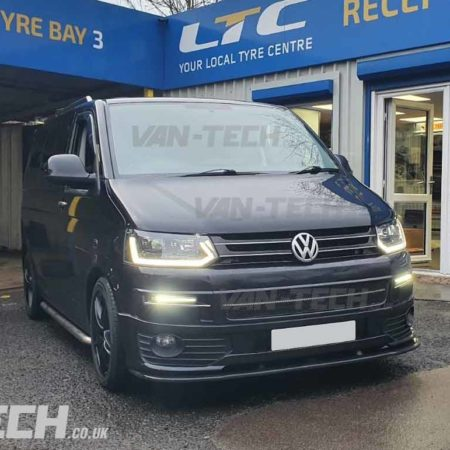 VW Transporter T5.1 fitted with our new Rear Bumper Styling kit and Light Bar Headlights