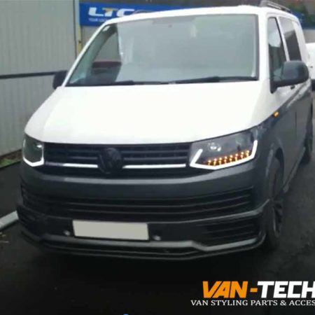 VW Transporter T6 Light Bar Headlights with Dynamic Indicators