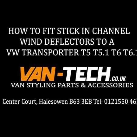 VW Transporter Wind Deflector Fitting Guide for VW T5 T5.1 T6 T6.1