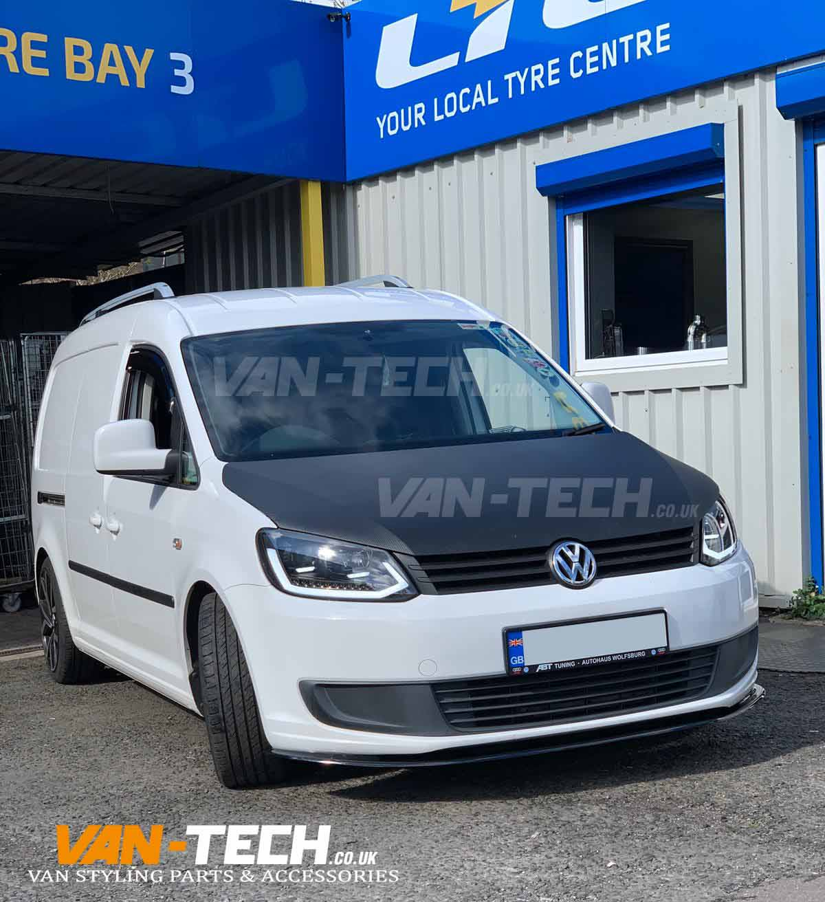 VW Caddy fitted with Lightbar Headlights and Lower Front Splitter