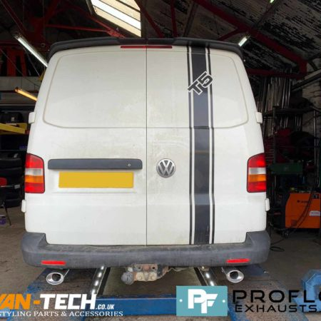 Proflow Custom Exhaust VW T5.1 Transporter Middle and Dual Rear made from Stainless Steel