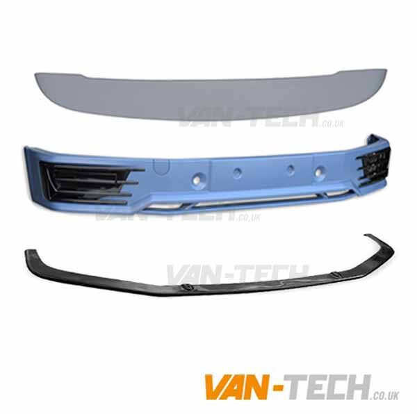 VW T6 Sportline Bumper Lower Splitter and Tailgate Spoiler