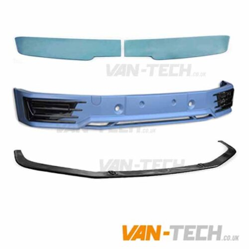 VW T6 Sportline Bumper Lower Splitter and Barn Door Spoiler