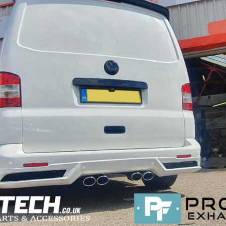 Proflow Custom Built VW T5.1 Transporter Dual Middle Exhaust made from Stainless Steel