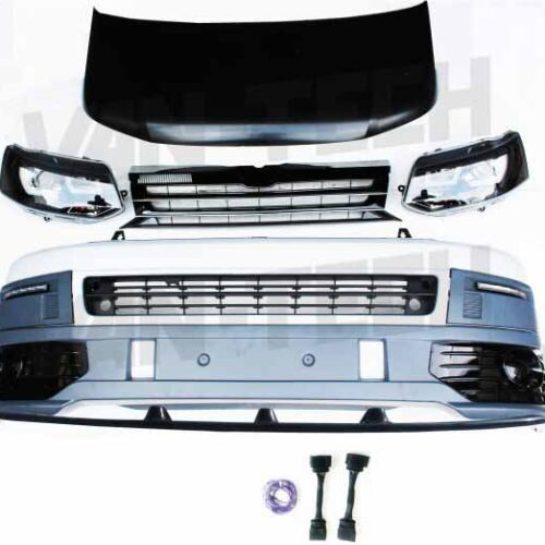 VW Transporter T5 to T5.1 Front End Conversion Styling Pack includes Wiring Kit / Lower Splitter