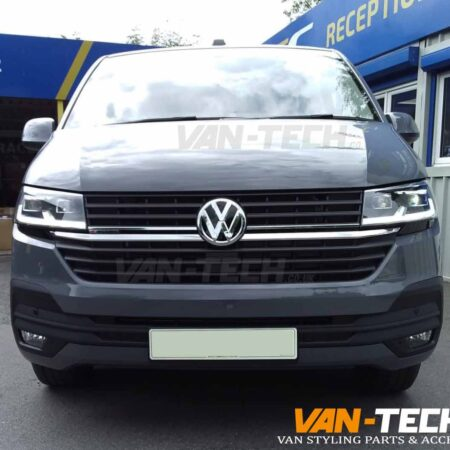 VW Transporter T6.1 Black Sportline Side Bars, Black Aluminium Roof Rails and Tailgate Spoiler