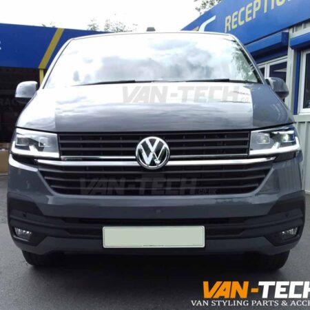 VW Transporter T6.1 Black Sportline Side Bars, Black Aluminium Roof Rails and Tailgate Spoiler
