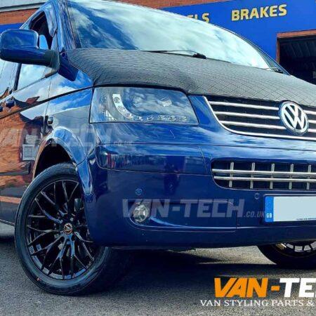 VW T5 T5.1 Wolfrace Wolfsburg 20″ Alloy Wheels Gloss Black