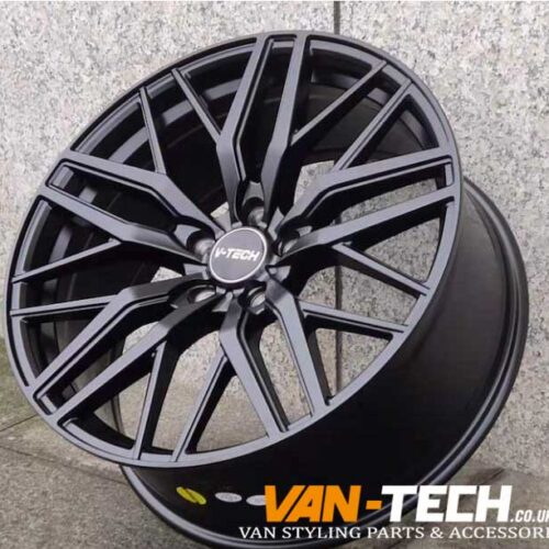 "VW T5 T5.1 T6 T6.1 V-Tech Alloy Wheels 20"" Matte Black"