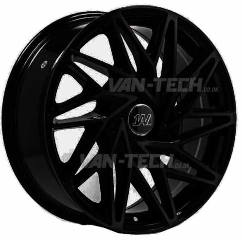 "1AV ZX10 Alloy Wheels Ford Transit 18"" Gloss Black"
