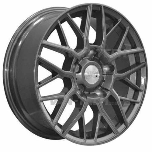 """1AV ZX11 Alloy Wheels Ford Transit 18"""" Gloss Grey"""