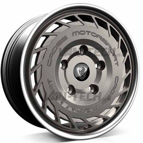 Cades Motorsport Ford Transit Alloy Wheels Matte Gun Metal with Polished Lip